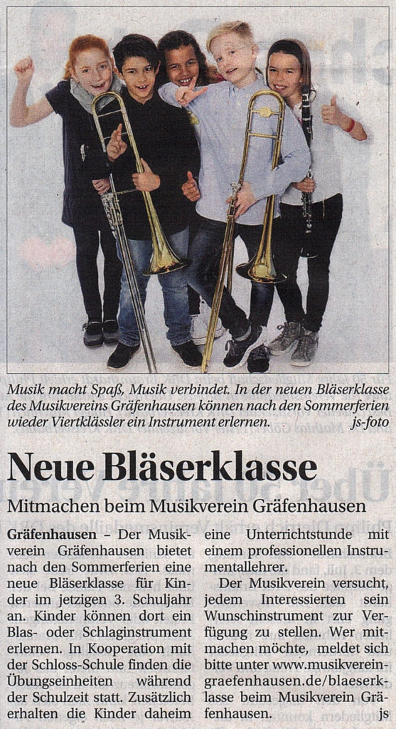 20160707-Wochenkurier-NeueBlaeserklasse